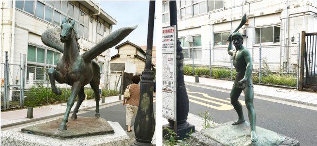 中野駅周辺にいたペガススとプロメテウス