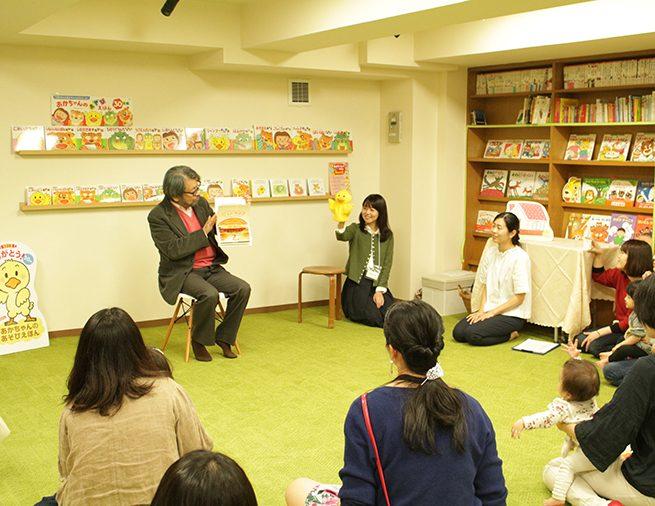 偕成社本社で、きむらゆういちさんのミニトーク付おはなし会イベントがありました!