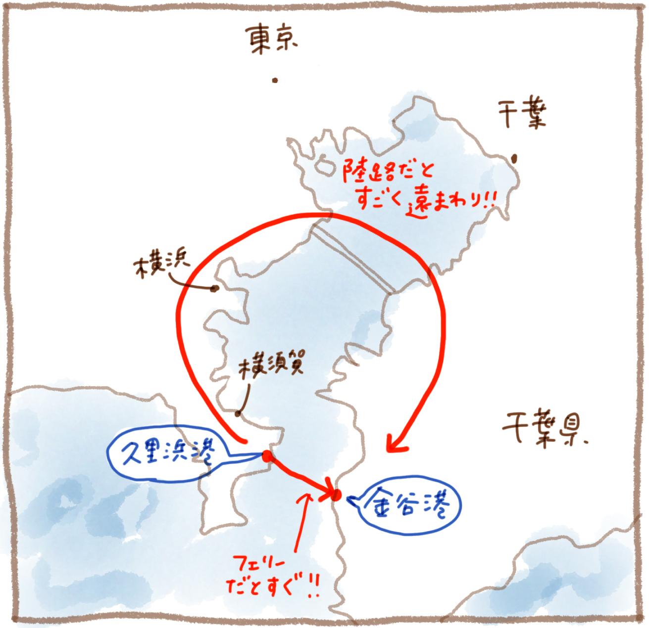 東京湾の地図
