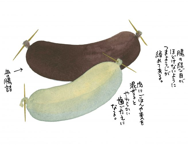 Jaternica(ヤチェルニツァ)茹でた内臓肉の腸詰